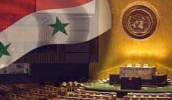 заседание Генассамблеи ООН по Сирии