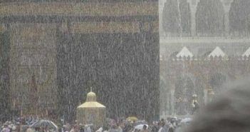 Кааба под дождем