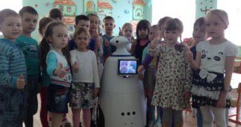 В чебоксарском детсадике работает робот Лунтик