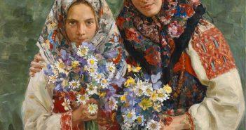Женские головные уборы: убрус, платок, шаль