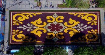 В Стамбуле «ожил» ковер из тюльпанов
