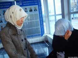 школьницы в хиджабах